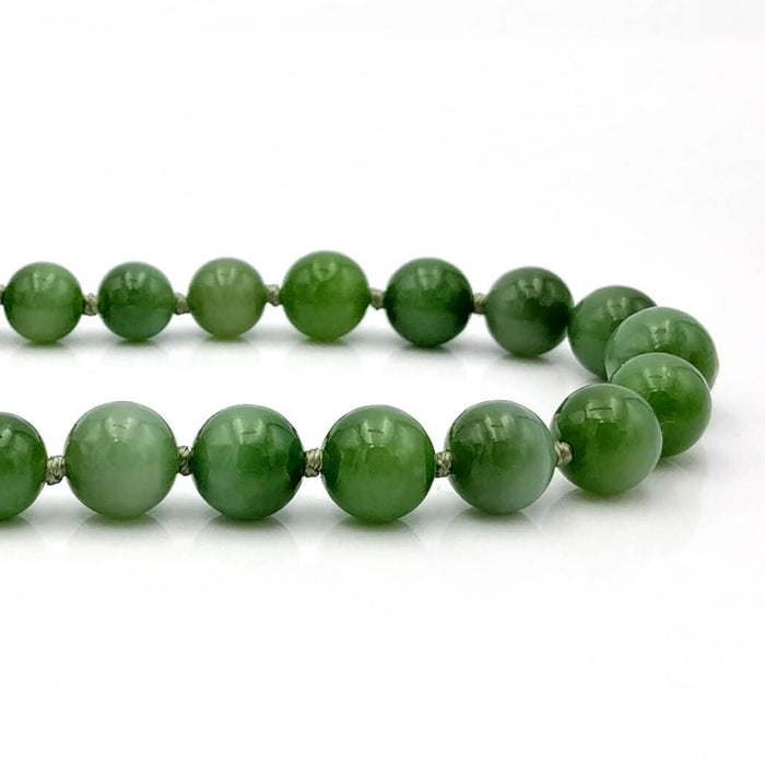 Jade Necklace - Graduated Beads Cat's Eye