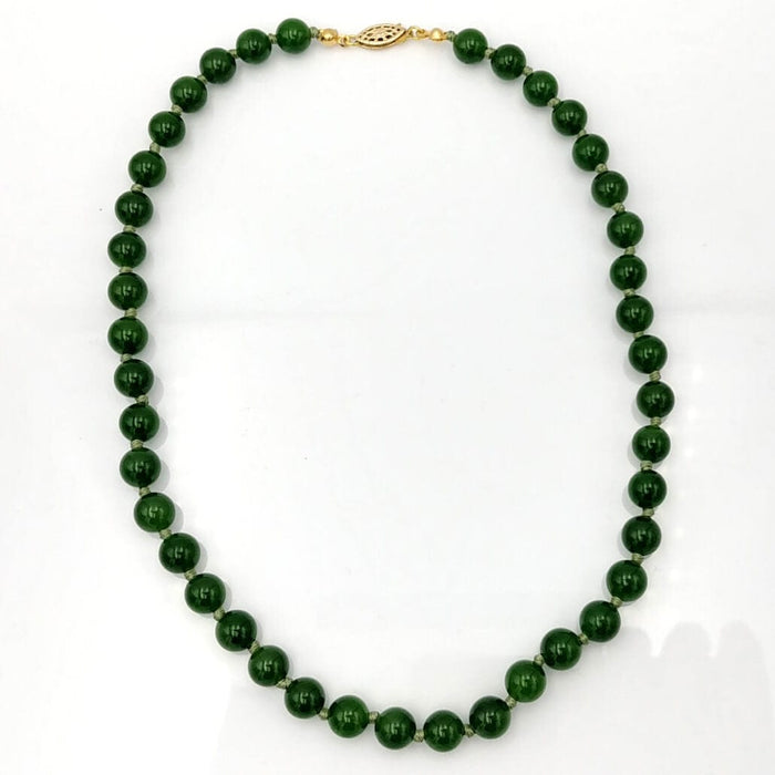 Jade Necklace - AAAA 9mm Beads