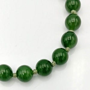 Jade Necklace - AAAA 9mm Beads - The Jade Store