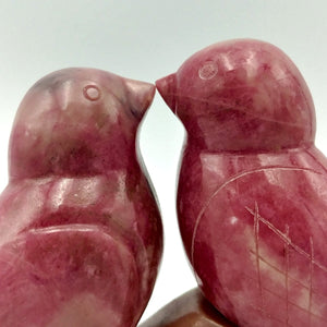 "Rhodonite Lovebirds 3"" - The Jade Store"