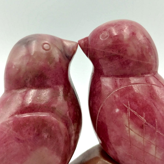 Rhodonite Lovebirds 3""