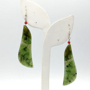 Jade Earrings Large - The Jade Store