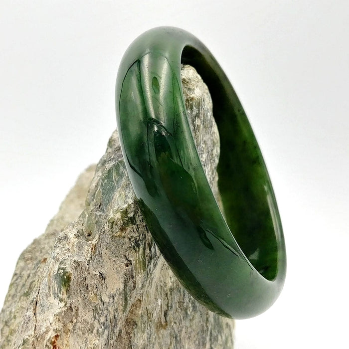 Jade Bangle - Medium Width