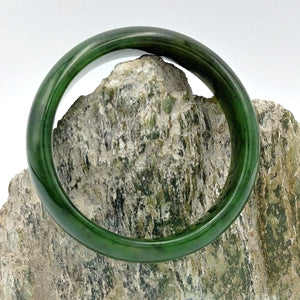 Jade Bangle - Medium Width - The Jade Store