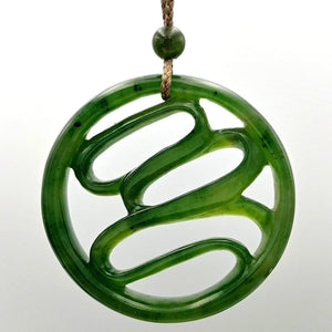 Jade Pendant - Abstract Carved - The Jade Store