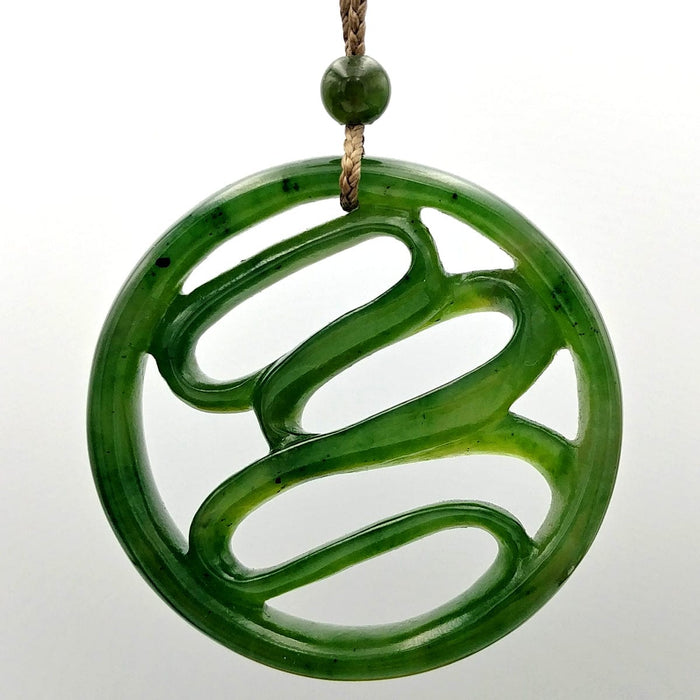 Jade Pendant - Abstract Carved