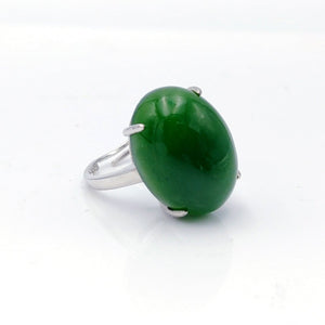 Jade Ring - Large Oval Cab