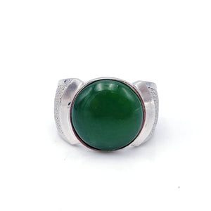 Jade Ring – Circle in Silver - The Jade Store