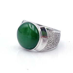 Jade Ring – Circle in Silver