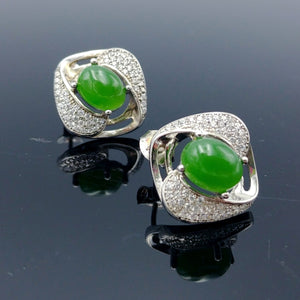 Jade Earrings - Nested Eye - The Jade Store