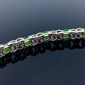 Jade Bracelet - 7 Faceted Cabs - The Jade Store