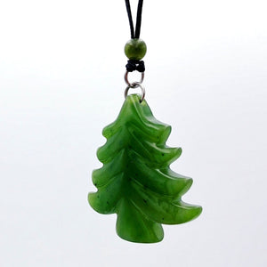 Jade Pendant - Pine Tree - The Jade Store