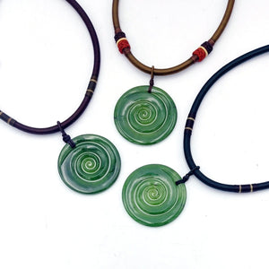 Jade Pendant - Koru Large - The Jade Store