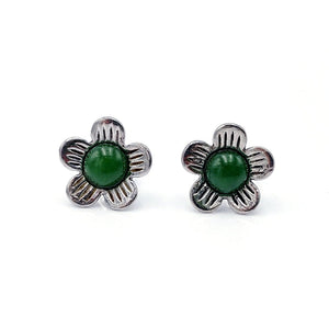 Earrings Flower Stainless - The Jade Store