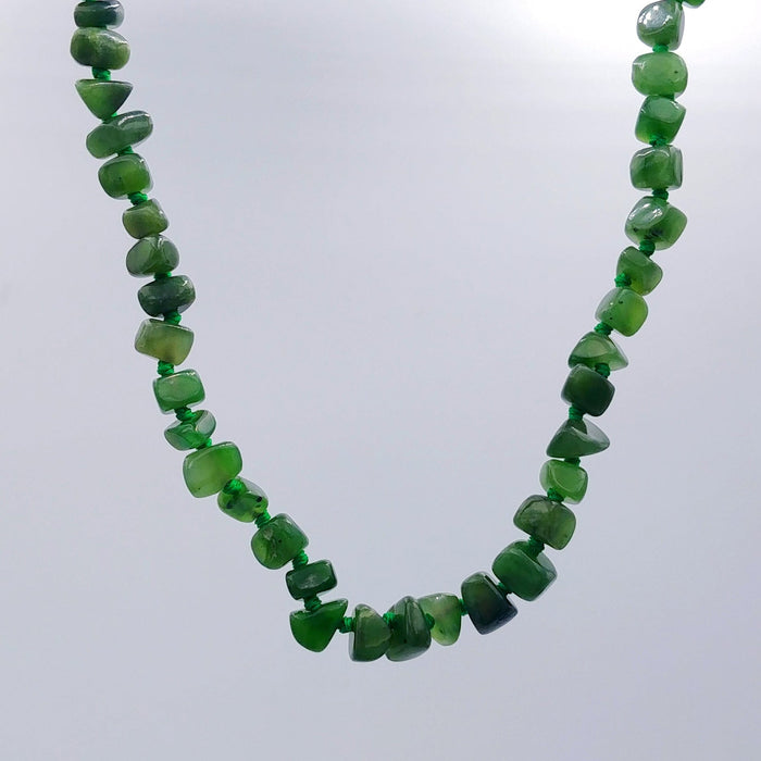 Jade Necklace - Natural Jade Chip with Clasp