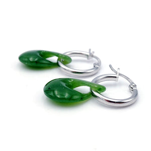 Jade Earrings - Twist - The Jade Store