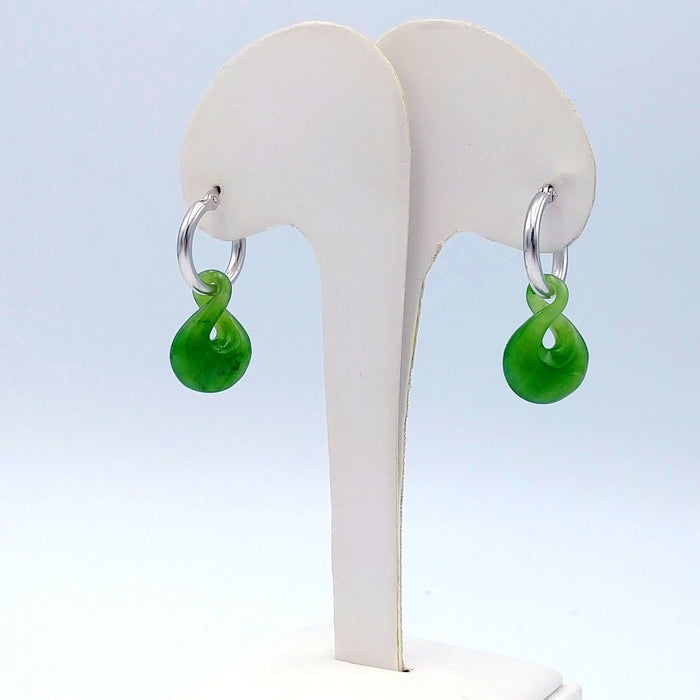 Jade Earrings - Twist