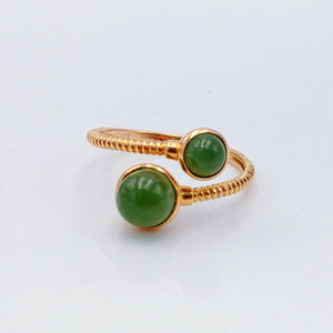 Jade Ring - Adjustable 18K Rose Gold - The Jade Store