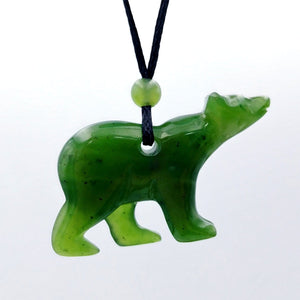 Jade Pendant - Polar Bear - The Jade Store