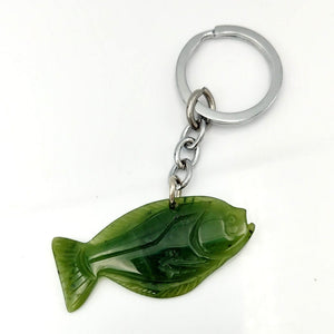 Jade Key Chain - Halibut - The Jade Store