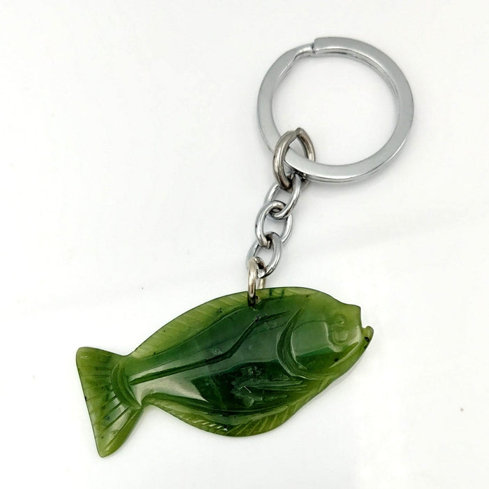 Jade Key Chain - Halibut