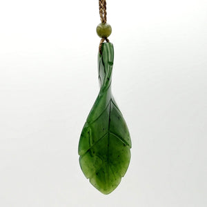Jade Pendant - Leaf Twist - The Jade Store