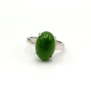 Jade Ring - Medium Oval Cab - The Jade Store
