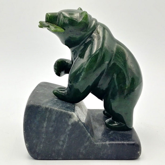 Jade Bear on Base - 4""
