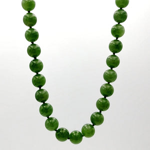 "Jade Necklace - 27"" Long 10mm Beads - The Jade Store"