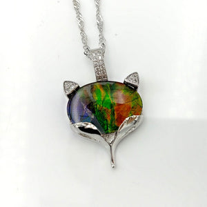 Ammolite Pendant - Fox - The Jade Store