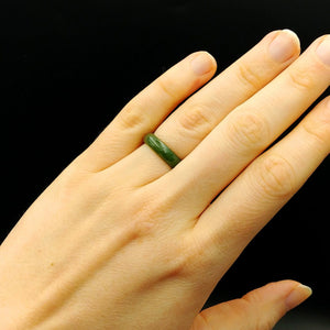 Jade Ring - Solid 5mm Narrow Band - The Jade Store