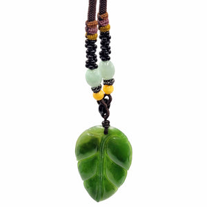 Jade Pendant - Polar Leaf Large - The Jade Store