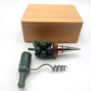 Jade Wine Stopper & Corkscrew Set - The Jade Store
