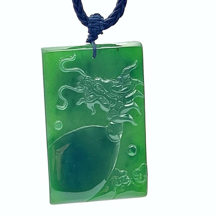 Jade Pendant - Dragon in Bas Relief