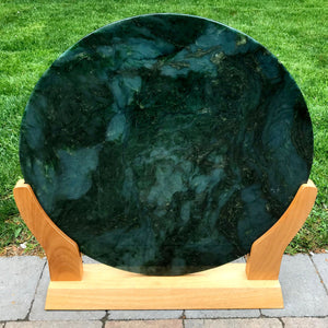 Jade Large Disk Carving - The Jade Store