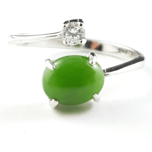 Jade Ring - Adjustable Silver - The Jade Store
