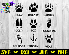Animal Tracks SVG