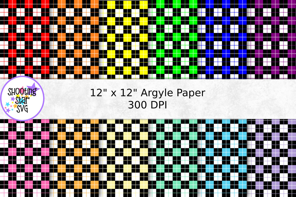 Argyle Buffalo Plaid Digital Paper - Buffalo Plaid Pattern