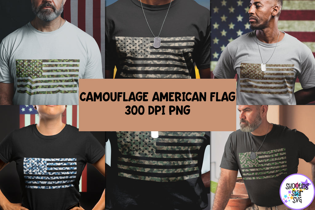 Camouflage American Flag Bundle - Sublimation American Flag