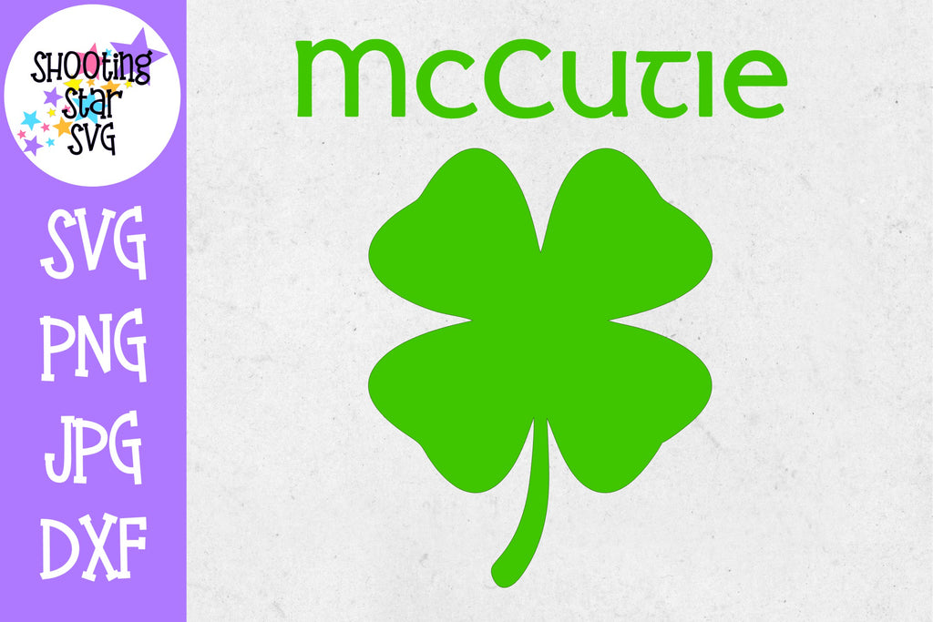 McCutie with Four Leaf Clover - St. Patrick's Day SVG