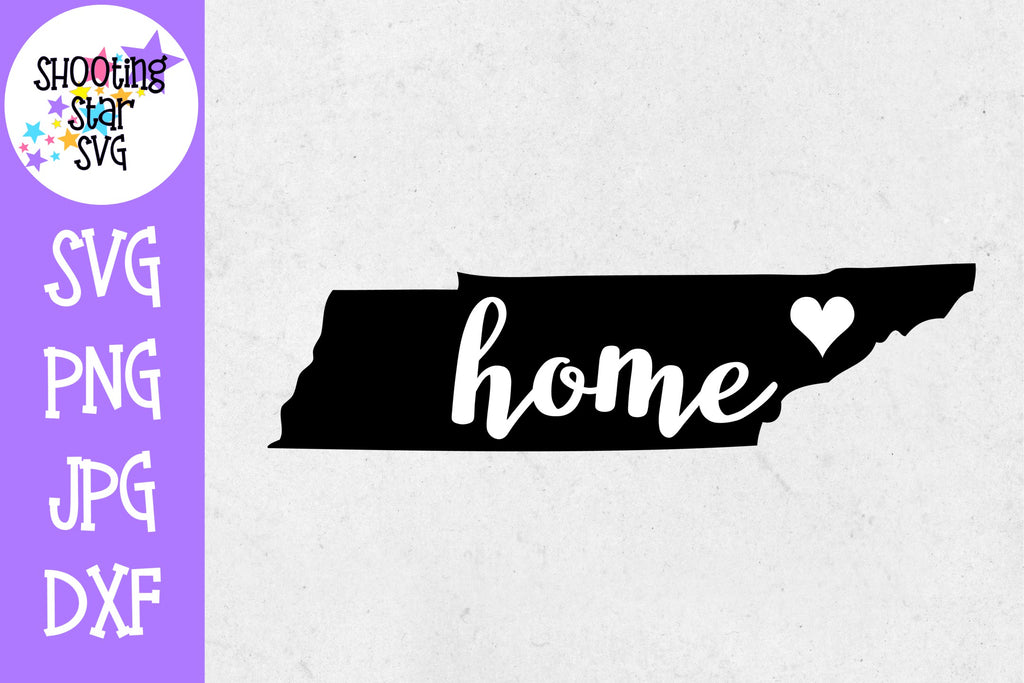 Tennessee State Home with Heart SVG - 50 States SVG - United States SVG