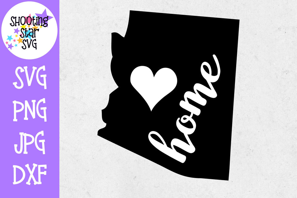 Arizona State Home with Heart SVG - 50 States SVG - United States SVG