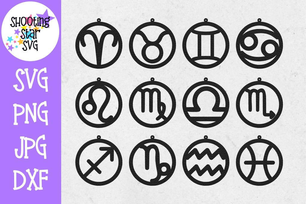 Astrology Earring SVG Template - Earring SVG - Zodiac SVG