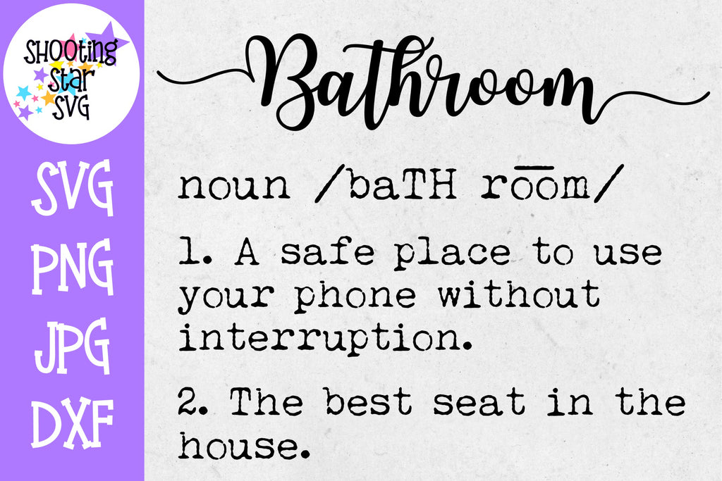 Bathroom Definition SVG - Funny Bathroom Definition SVG