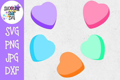 Blank Candy Hearts - Blank Conversation Hearts - Valentine's Day SVG