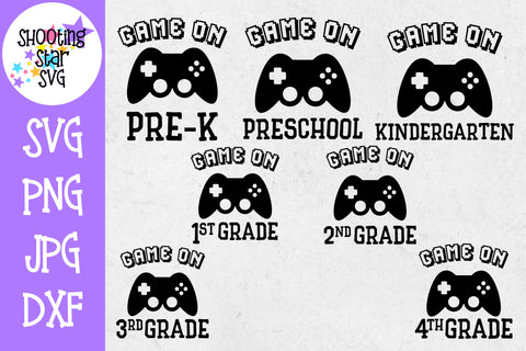 Game on Grades Bundle SVG - First Day of School SVG