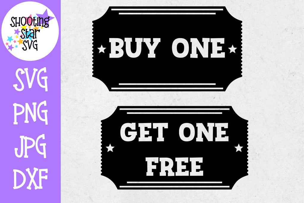 Buy one Get one Free movie ticket - Twin Bodysuit SVG