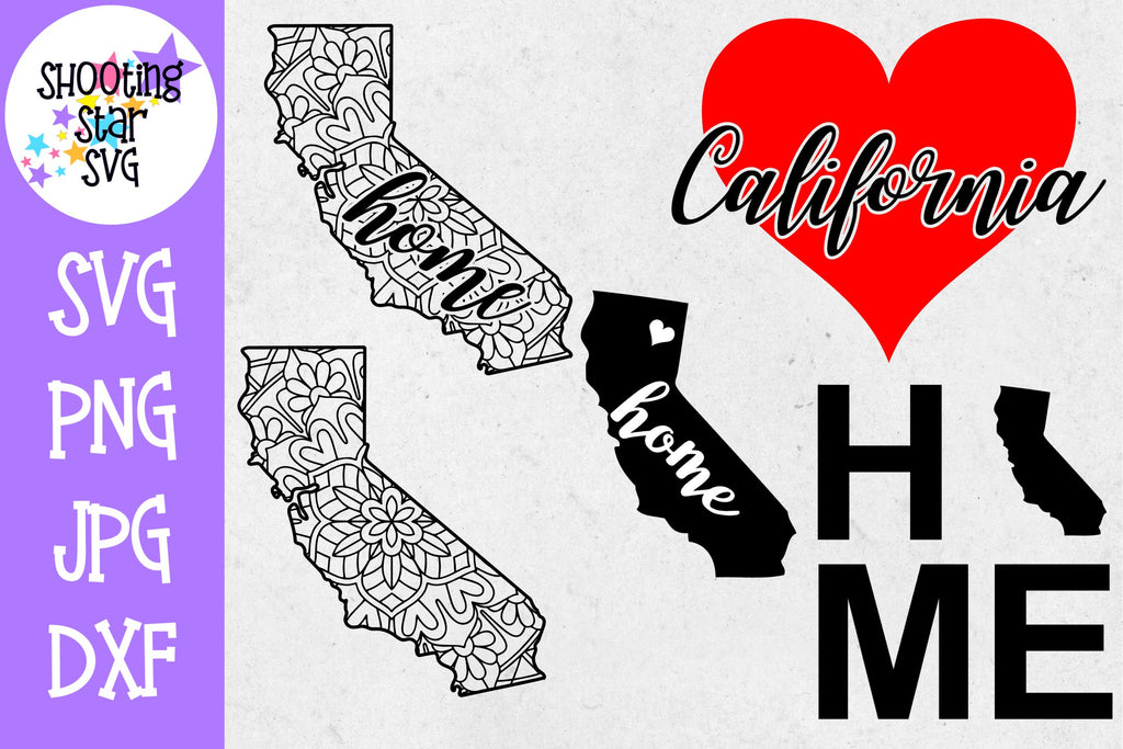California US State SVG Decal Bundle - 50 States SVG