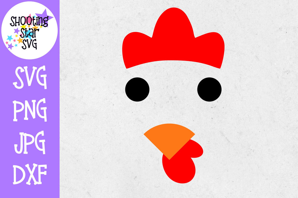 Chicken Face SVG - Farming SVG - Children's SVG