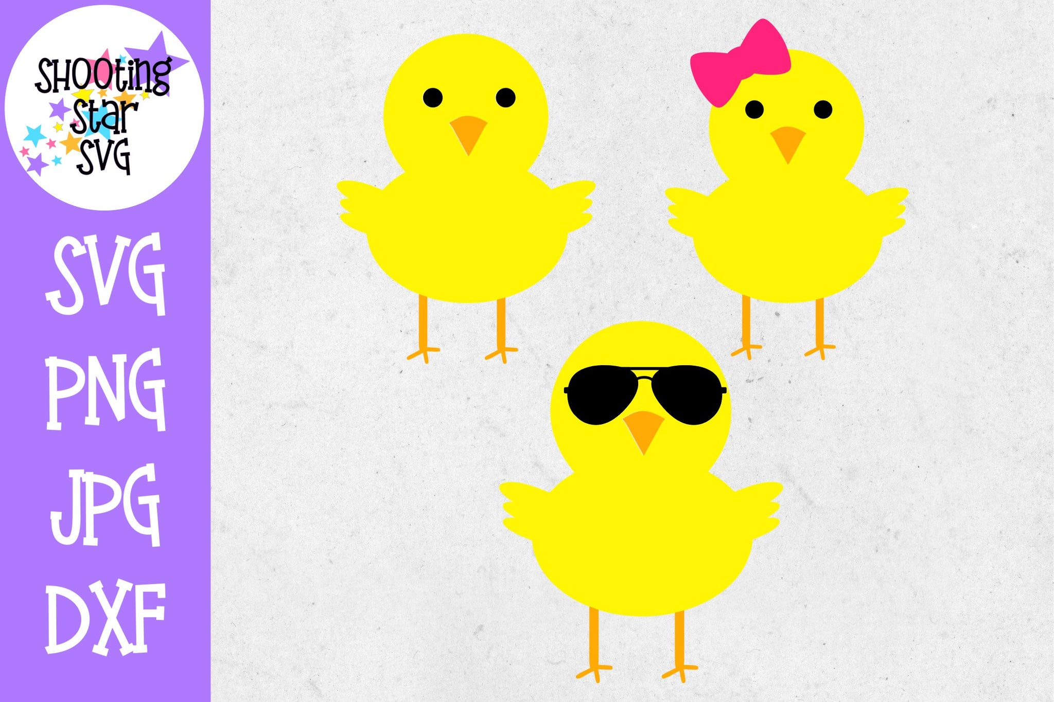 Chick - boy chick - girl chick - cool chick - Easter SVG